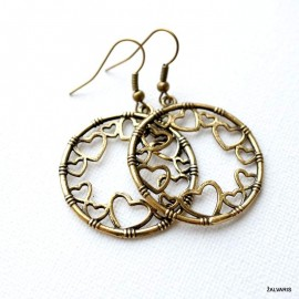 Brass earrings ŽA625