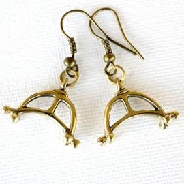Žalvariniai auskarai ŽA655