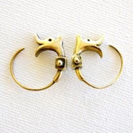 Žalvariniai auskarai