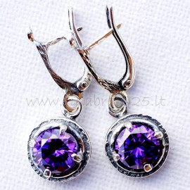 Earrings with Zirconia A579