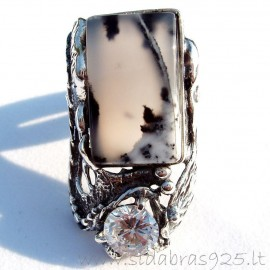 Ring with agate Ž422