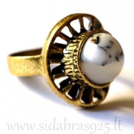 Žalvarinis žiedas su Agatu ŽŽ149