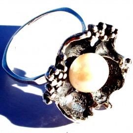 Žiedas su Perlu Ž116