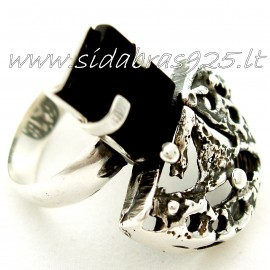 Ring with Onyx Ž506