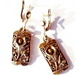 """Brass earrings """"Kalija"""" ŽA429"""
