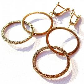 "Brass earrings ""Ratukai"""