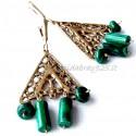 Žalvariniai auskarai su Malachitu ŽA242