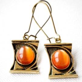 Brass earrings ŽA181