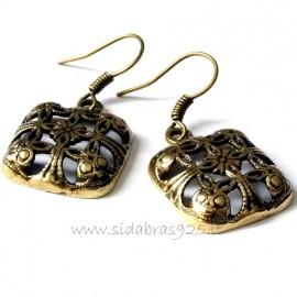 Brass earrings ŽA513