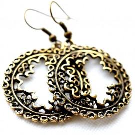 Brass earrings ŽA577