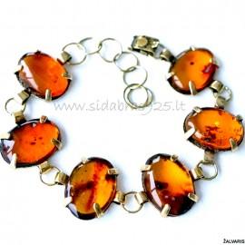 """Brass bracelet """"Saulės spinduliai"""" ŽAP363-6"""