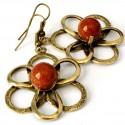 Žalvariniai auskarai su Saulės akmeniu ŽA532