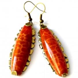 Brass earrings ŽA233-1