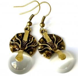 Brass earrings ŽA263-1
