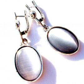 Earrings with Cat Eye A513