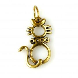 """Brass pendant """"Katinas O"""""""