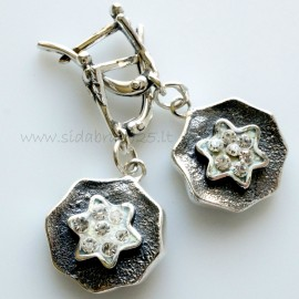 "Earrings with Swarovski ""Šventės akimirka"""