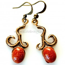 Bronze earrings BA271
