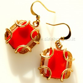 Bronze earrings BA440