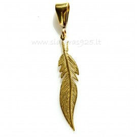"Brass pendant ŽP ""Plunksnelė"""