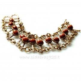 Bronze bracelet Saulės akmeniu BAP446