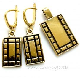 """Brass set """"Šachmatai"""""""