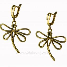 "Brass earrings ""Laumžirgis"" ŽA568"