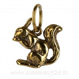 "Brass pendant ""Voverytė"" ŽP018"