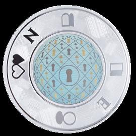 """Медаль """"Серебряная монета с голограммой"""""""