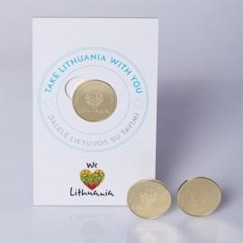 """Sėkmės pinigėlis """"WE LOVE LITHUANIA"""""""