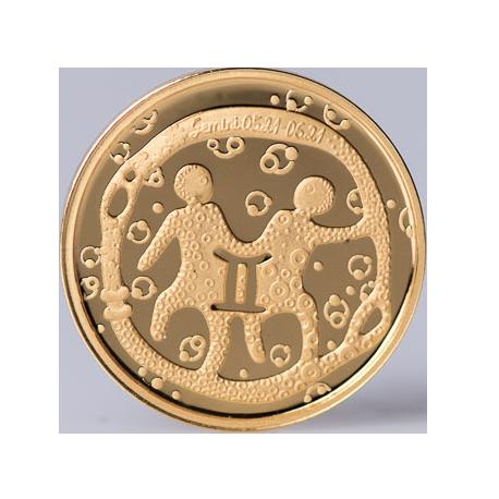 """Aukso Medalis """"Zodiako ženklas Dvyniai"""""""