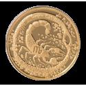 """Aukso Medalis """"Zodiako ženklas Skorpionas"""""""