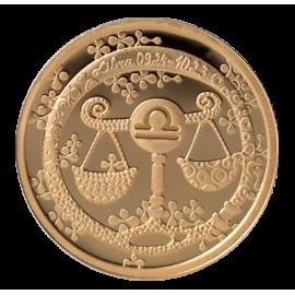 Золотая медаль «Знаки зодиака Весы»