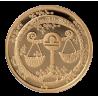 """Aukso Medalis """"Zodiako ženklas Svarstyklės"""""""