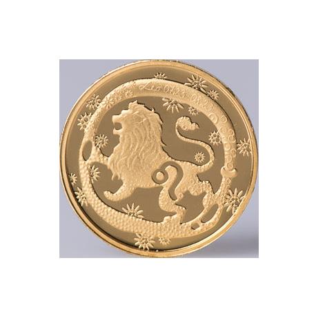 "Aukso Medalis ""Zodiako ženklas Liūtas"""