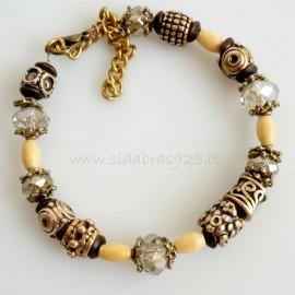 Bronze bracelet with Smoke Quartz