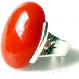 Žiedas su Karneoliu Ž154-3