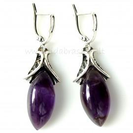 Earrings with Amethyst A573