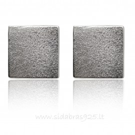 "Earrings ""Silver square"""