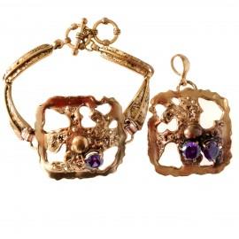 Bronze jewellery set Žiezdrė
