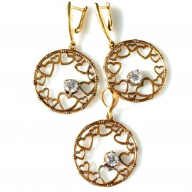 "Bronze jewellery set ""Trotytojos kibirkštys"""