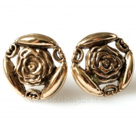"Bronze earrings BA705 ""Rose"""