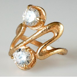 Bronzinis žiedas su Cirkoniu B090Ž
