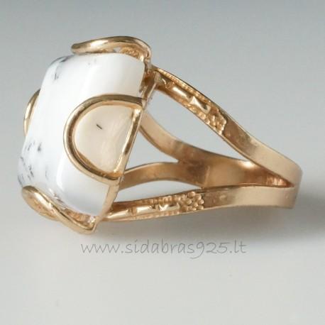 Bronzins žiedas su Agatu BŽ160