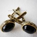 Žalvariniai auskarai su Oniksu ŽA148