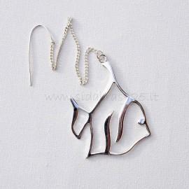 Серебряная рыба в воде