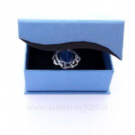 """Подарочная коробка """"Голубая волна"""" с магнитом."""