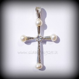 Pendant cross with Pearls
