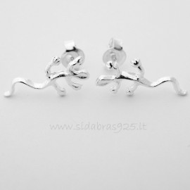 "Earrings minimalist ""Lizard"""