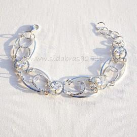 Bracelet with Square Zircons